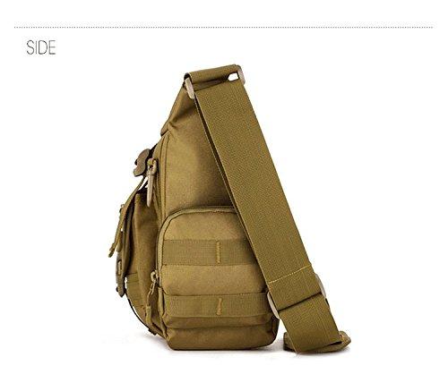 FlyHawk Taktisch Molle Beutel Schulter Taschen, Outdoor Laptop Tasche Daypack Handtasche Umhängetasche K308-ACU Digital