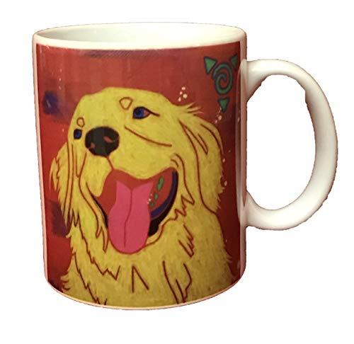 - Golden Retreiver Mug, Dog Art 11 oz Ceramic Coffee Cup by Angela Bond