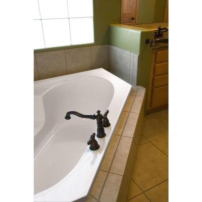 Hydro Systems Studio 5 ft. Reversible Drain Corner Air Bath Tub in Biscuit by Hydro Systems