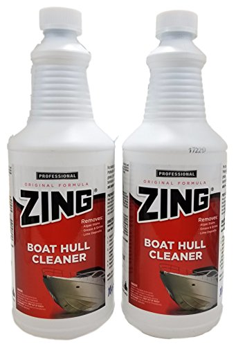 Cleaner Boat Zing (Zing Boat Hull Cleaner - Original Formula For Removing Algae Stains, Grease And Grime And Lime Deposits (2 Bottles))