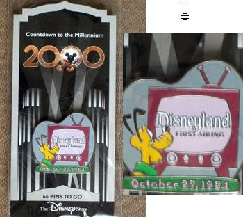 DISNEYLAND TV show (#67 in this series) PIN from 'COUNTDOWN TO THE MILLENIUM' Walt Disney collection. In 1999, Walt Disney company produced 100 different character pins from Disney movies & - Inch Tv 67