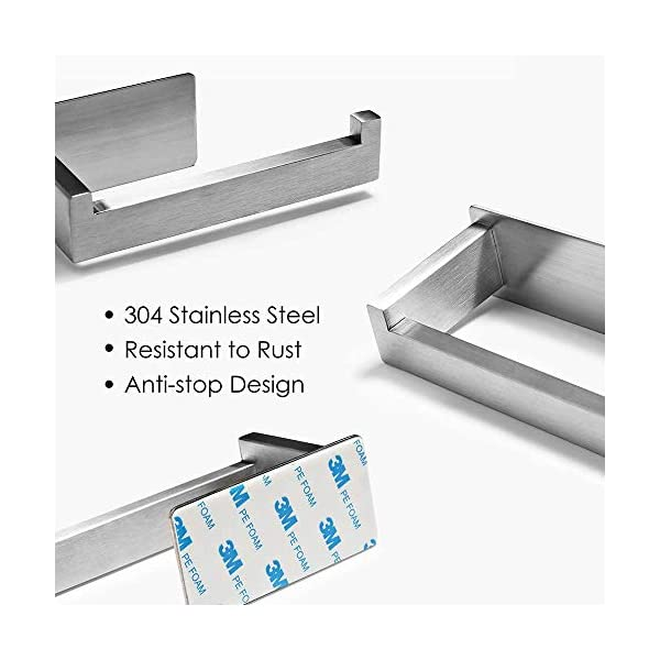 417wdg2PdrL Auxmir Toilettenpapierhalter ohne Bohren, WC Klopapierhalter Rollenhalter Papierhalter Klorollenhalter Edelstahl…