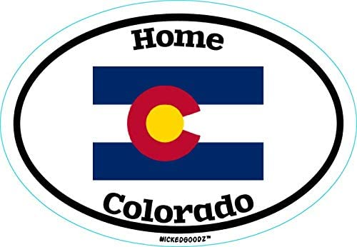Perfect Vacation Gift WickedGoodz Oval Colorado Home Vinyl Decal State Flag Bumper Sticker