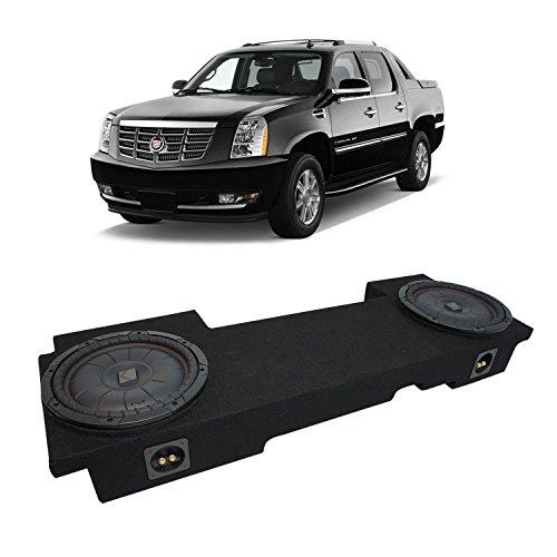 Fits 2002-2013 Cadillac Escalade EXT Underseat Kicker CompVT CVT10 Dual 10 Sub Box Enclosure - Final 2 Ohm