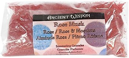 Sabiduría antigua rosa gránulos aromáticos de almizcle