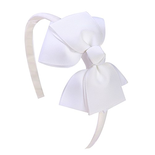 Shemay Fashion Solid Grosgrain Ribbon Hair Bows and Headbands for Toddlers Girls Kids - Hair Ribbons Bows