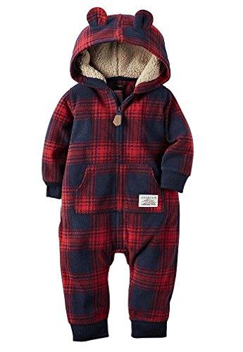 Carters Fleece Hooded Pocket Bodysuit