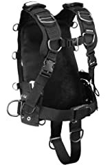 This is our most versatile harness. Solid construction coupled with durable materials make this harness a cornerstone for many applications. Can mount directly to a single cylinder using dual nylon cylinder bands Can accept an Apeks back plat...