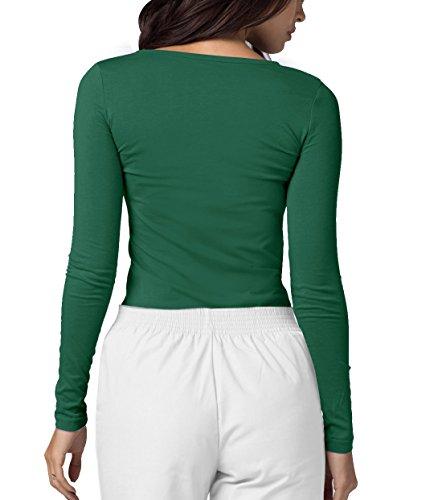 Adar Womens Comfort Long Sleeve T-Shirt Underscrub Tee - 2900 - Hunter Green - M by Adar Uniforms (Image #1)