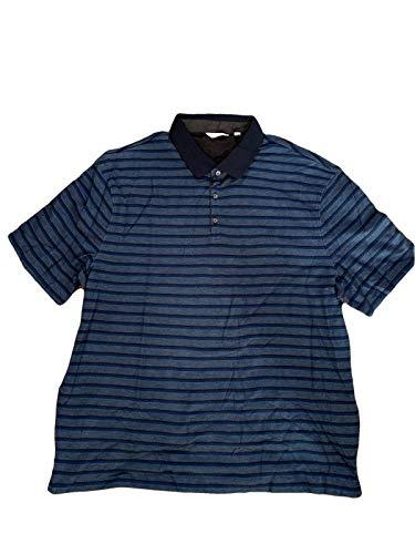 Calvin Klein Men's Striped Polo/Sky Captain, - Shirt Polo Calvin Striped Klein