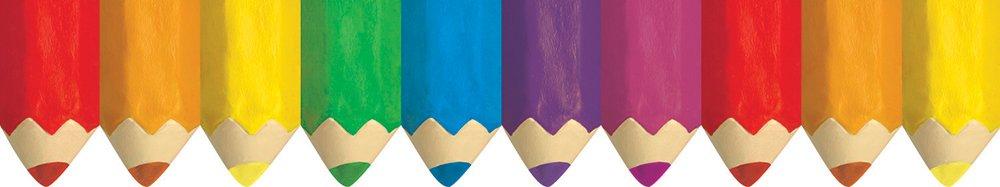 6475 Creative Teaching Press Jumbo Colored Pencils Border