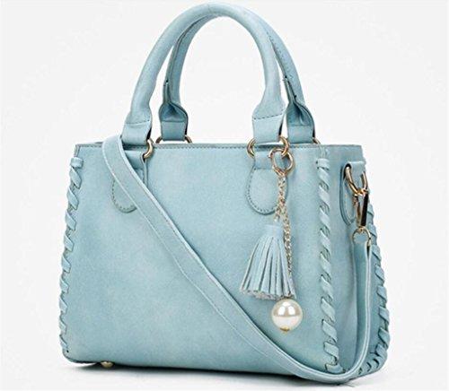 Shoulder colori azzurro Bao Work Shopping Cinque Multiple Tassels Handbag Diagonal Compartments Fashion rosa Single qqtOfa