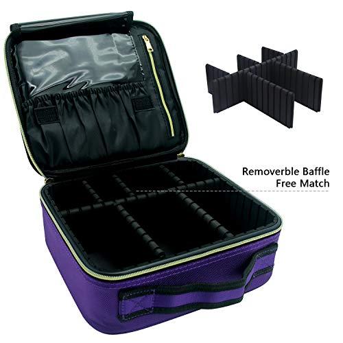 1d14fa16eb39 Travel Makeup Case,Chomeiu- Professional Cosmetic Makeup Bag Organizer  Makeup Boxes With Compartments Neceser De Maquillaje