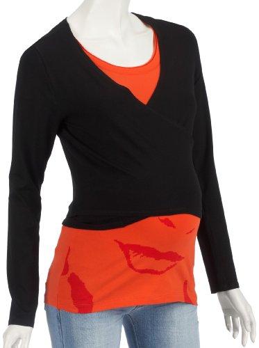Noppies - Camiseta para mujer, Negro, 38