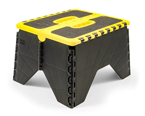 Camco 43637 Yellow/Black Non Skid RV Folding Step Stool