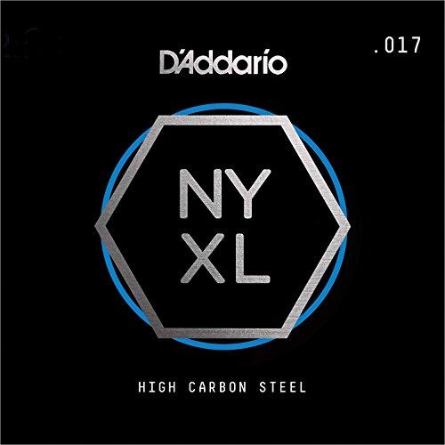 D'Addario NYS017 Single Plain Steel Guitar String.017