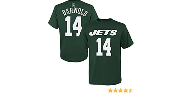 58b71ac2509 Amazon.com : OuterStuff Sam Darnold New York Jets #14 Youth Name & Number  Player T-Shirt : Sports & Outdoors