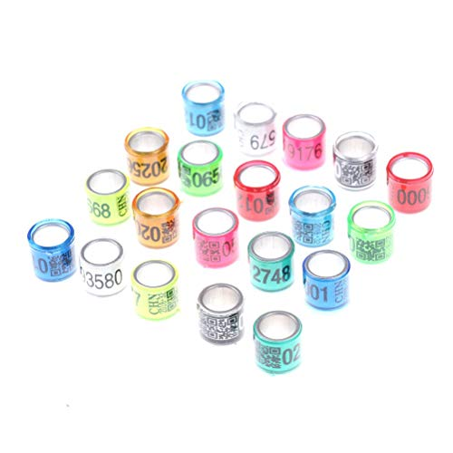 200 Pcs Aluminium Pigeon Leg Rings Identify Dove Bands 8 MM Multi-Color Bird of Peace Leg Bands Numbered Al GB Training Rings for Parrot Quail Finch Canary Hatch Poultry Foot Rings Chicks Duck Clips ()