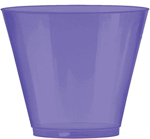 Amscan 350366.106 Party Supplies, Purple, 9 oz