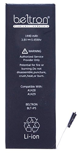 New 1440 mAh BELTRON Replacement Battery for iPhone 5 - (Compatible with all iPhone 5 Carriers) - BELTRON BLT-iP5