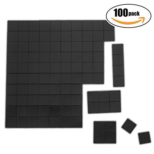 Netany 100pcs Heavy Duty Flexible Magnet Squares / Magnets for Crafts / Adhesive Magnets / Magnetic Tape / Magnet Strips with Adhesive Backing - Each Sheet: 4/5