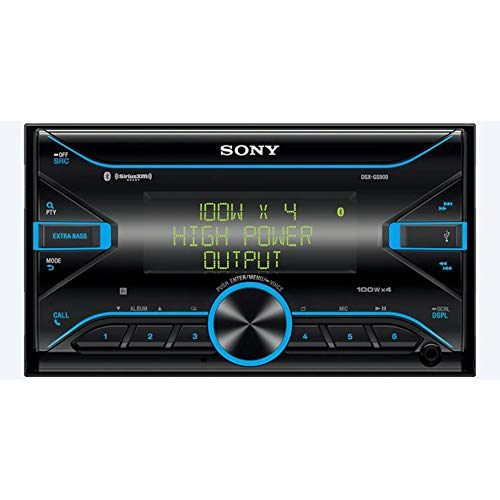 Sony DSX-GS900 GS Series 2-DIN High Power 45W X 4 Rms Digital Media Receiver with Bluetooth and SiriusXM Ready