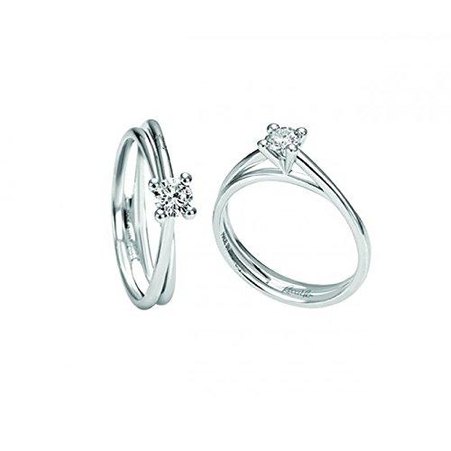 Bague recarlo Isabella R103/041e09or blanc diamant