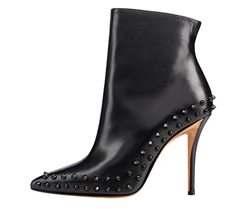 Arc-En-Ciel womens shoes high heel pointed toe spike ankle boot Negro