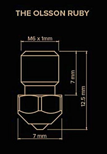 Olsson Ruby Nozzle 0.4mm 3DMakerWorld 1.75mm Filament