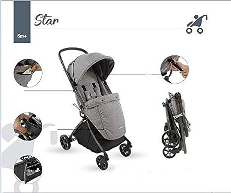 aziamor Star Carrito compacto ligero de aluminio PESO 3,8 kg colores a elegir: Amazon.es: Bebé