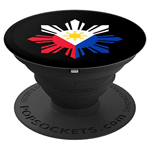 Philippine Flag Gift Pinoy Flag Filipino Pinoy Sun - PopSockets Grip and Stand for Phones and Tablets