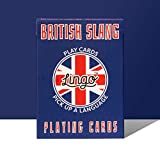 British Slang Playing Cards - Lingo Playing Cards | Language Learning Game Set | Fun Visual Flashcard Deck to Increase Vocabulary and Pronunciation Skills - 54 Useful Phrases