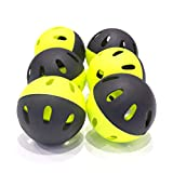 QuickPlay Softball Indestructiballs | Heavy-Duty Softball Training Balls (Pack of 6) Long Lasting Limited Flight High Impact Balls | Ultra-Durable Wiffle-Style Training Balls – New for 2018 –