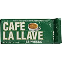 Cafe La Llave Espresso 1-Pound 100% Pure Ground Coffee