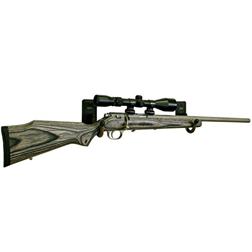 Shotgun Metal Gun Rack Vinyl Coated Mount Anywhere Wall Hanger Holder Rifle