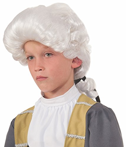Forum Deluxe Colonial Child Wig, (Kids Deluxe Colonial White Wig)