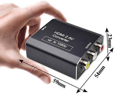 AMANKA HDMI a AV Adaptador Conversor de señal Mini 1080P 3RCA CVBS Compuesto Video Audio Convertidor Apoyo PAL/NTSC para PC Laptop Wii Xbox PS3 PS4 TV ...