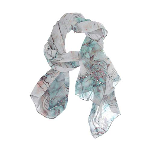 Marble Pattern Women Fashion Light Weight Print Scarves Scarf Gorgeous Shawl Wrap-Various Colors