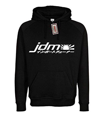 (JDM #19 Import Hoodie Black 2XL Sweatshirt Street Racing Gear)