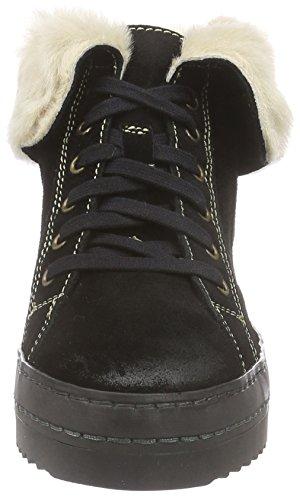 MANAS OLLI - botas de caño bajo de piel mujer negro - Schwarz (NERO+NERO)