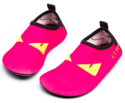 Image of Giotto Kids Swim Water Shoes Quick Dry Non-Slip for Boys & Girls, Pink, 34-35