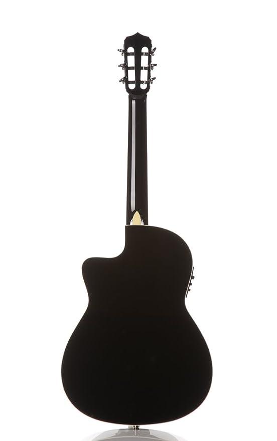 Cordoba Fusion 12 Jet acústica eléctrica (cuerdas de nailon para guitarra clásica, Gloss Black: Amazon.es: Instrumentos musicales