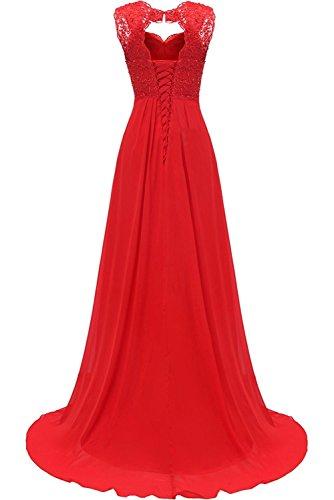 Spitze Abendkleider Carnivalprom Damen Hochzeit Lang Blau Brautjungfer Elegant Für Kleider Ballkleider Navy Chiffon qYaYTF
