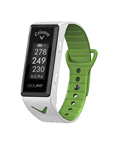 Callaway GOLFIT (White) Golf & Fitness GPS Band Bundle with PlayBetter USB Car Charge Adapter | Fitness & Activity Tracker, Smart Notifications & 30,000+ Worldwide Courses by PlayBetter (Image #1)