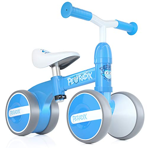 Peradix Baby Balance Bike, Baby Walker Push Bike Baby Ride On Bike for 1 2 3 Year-Old Boys Girls Kids and Toddlers First Bike Birthday Gift (Blue)