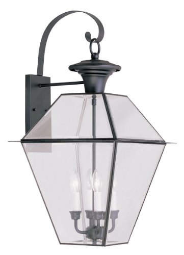 (Livex Lighting 2386-04 Westover 4-Light Outdoor Wall Lantern, Black)