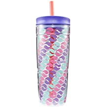 Bubba Envy Double Wall Insulated Straw Tumbler, 24 oz, Purple Circle Graphic