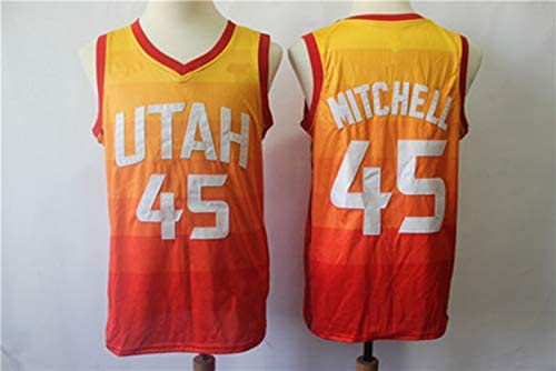 info for 48403 39ec3 Donovan Mitchell No.45 Utah Jazz Regular City Version Vest ...