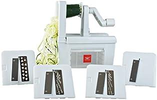 Paderno World Cuisine A4982800 Spiralizer Pro Cortador de 4 cuchillas para vegetales, blanco