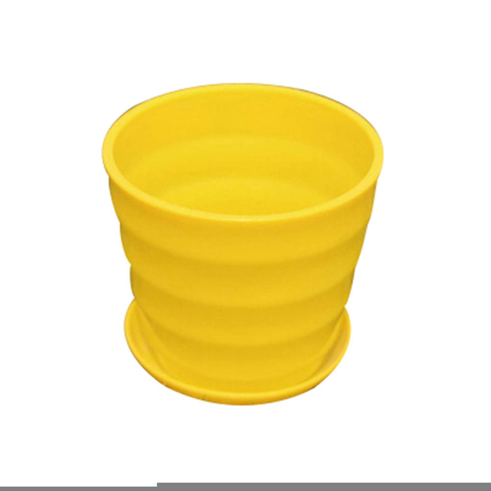 Shuohu Bright Color Simulation Porcelain Flower Succulent Pot Bonsai Garden Planter Threaded Flower Pot Yellows